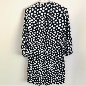 kate spade Dresses - Kate Spade silk floral tie waist shirt dress